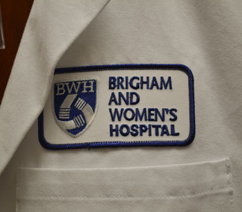 Lab Coat with Brigham and Women's Hospital patch